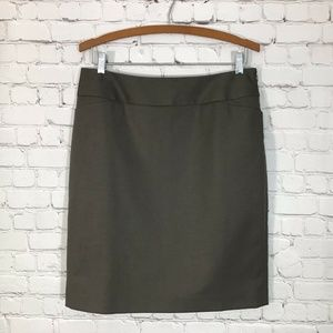 Halogen Skirt Straight Skirt Side Zip Back Slit 10